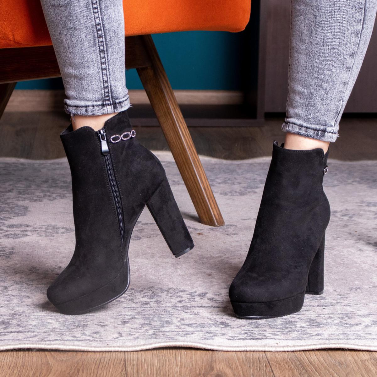 Ботильоны женские Fashion Toffi 2164 38 размер 24 см Черный