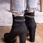 Ботильоны женские Fashion Toffi 2164 38 размер 24 см Черный, фото 4