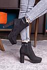 Ботильоны женские Fashion Toffi 2164 38 размер 24 см Черный, фото 6