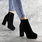 Ботильйони жіночі Fashion Trix 2453 37 розмір 24 см Чорний, фото 3