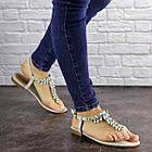 Жіночі босоніжки, в'єтнамки Fashion Amber 1595 37 розмір 24 см Сірий, фото 3