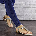 Жіночі босоніжки, в'єтнамки Fashion Amber 1595 37 розмір 24 см Сірий, фото 4