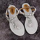 Жіночі босоніжки, в'єтнамки Fashion Amber 1595 37 розмір 24 см Сірий, фото 5