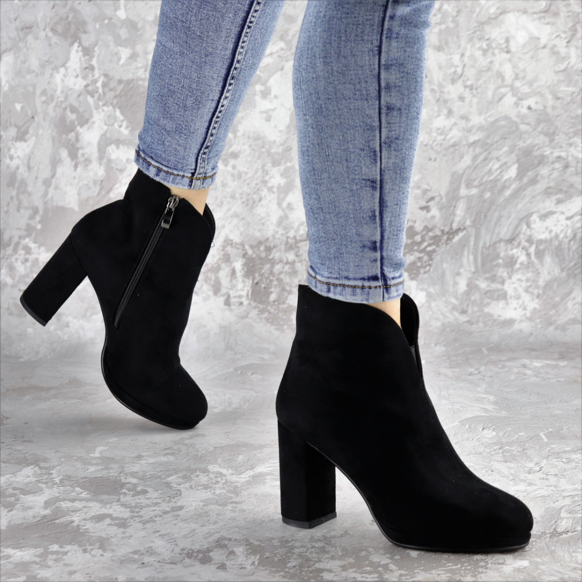 Ботильйони жіночі Fashion Tussler 2417 37 розмір 24 см Чорний