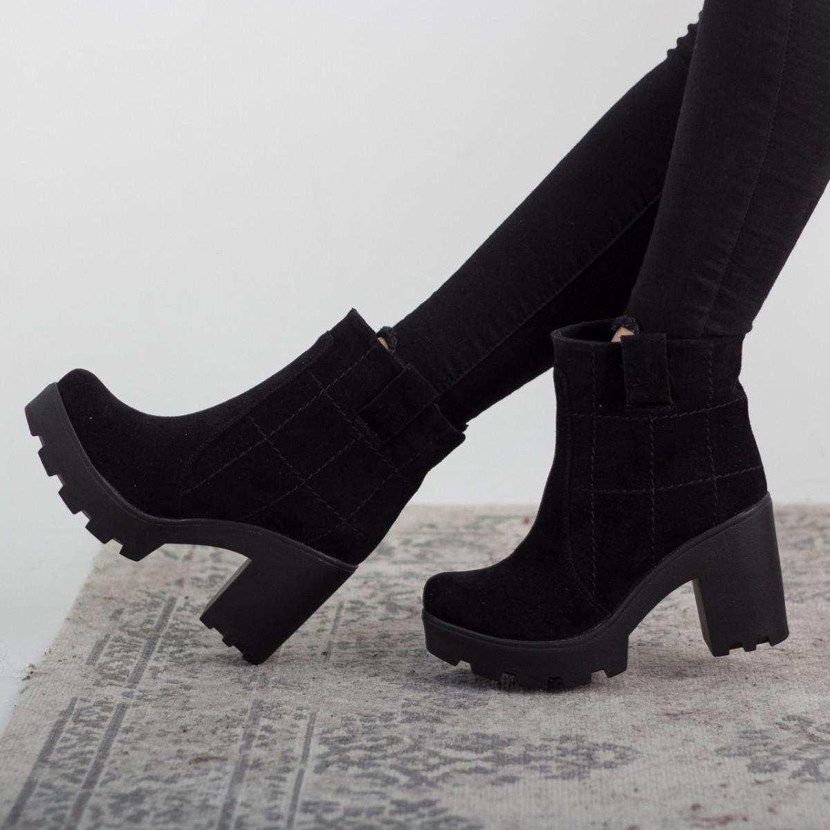 Черевики жіночі Fashion Caji 2641 36 розмір, 23,5 см Чорний 40