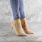 Туфли женские Fashion Vassel 2452 36 размер 23 см Бежевый, фото 2