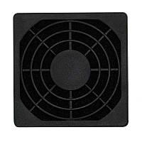Решетка для вентилятора 60 x 60 mm, пластиковая с фильтром ЧЕРНАЯ
