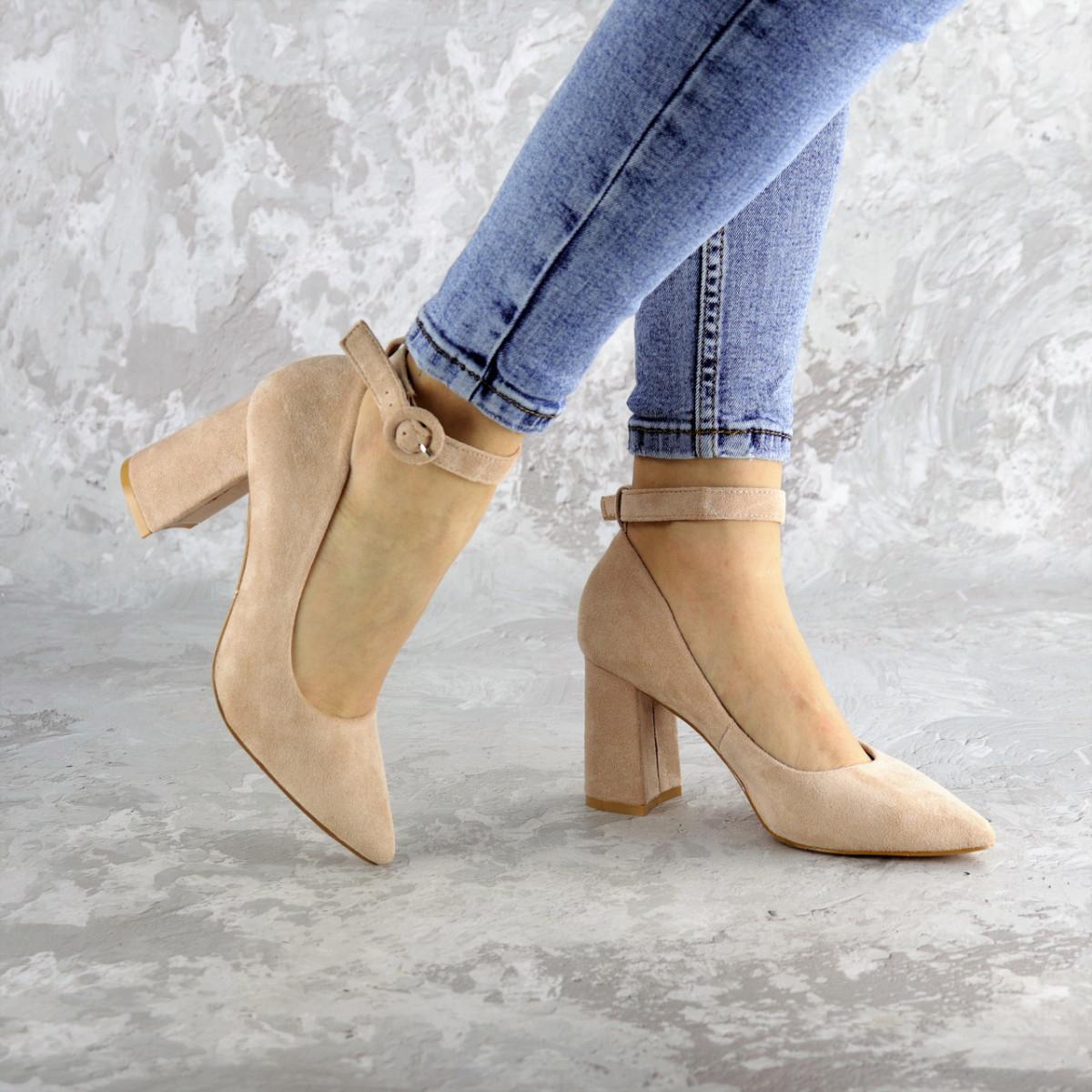 Туфли женские Fashion Winsor 2455 40 размер 25,5 см Бежевый