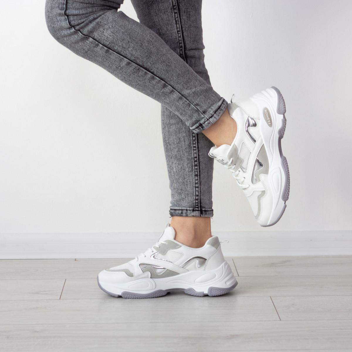 Кросівки жіночі Fashion Caleb 2548 37 розмір 23 см Білий