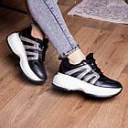 Кросівки жіночі Fashion Cassie 2189 36 розмір 23 см Чорний, фото 5