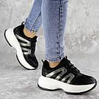 Кросівки жіночі Fashion Cassie 2189 36 розмір 23 см Чорний, фото 7