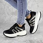Кросівки жіночі Fashion Cassie 2189 36 розмір 23 см Чорний, фото 8