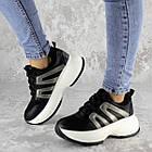 Кросівки жіночі Fashion Cassie 2189 36 розмір 23 см Чорний, фото 9