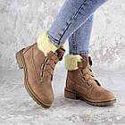 Жіночі зимові черевики Fashion Taffata 1374 36 розмір 23 см Коричневий, фото 2