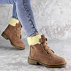 Жіночі зимові черевики Fashion Taffata 1374 36 розмір 23 см Коричневий, фото 3