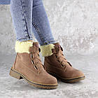 Жіночі зимові черевики Fashion Taffata 1374 36 розмір 23 см Коричневий, фото 4