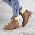 Жіночі зимові черевики Fashion Taffata 1374 36 розмір 23 см Коричневий, фото 5