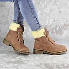 Жіночі зимові черевики Fashion Taffata 1374 36 розмір 23 см Коричневий, фото 6