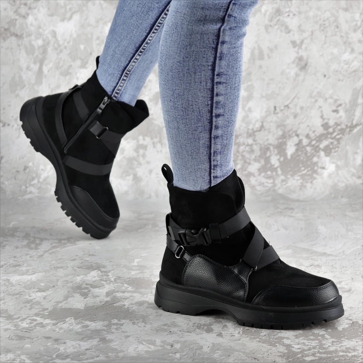 Черевики жіночі зимові Fashion Lana 2317 36 розмір, 23,5 см Чорний