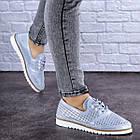 Женские кожаные туфли Fashion Niky 1726 36 размер 23,5 см Голубой, фото 9