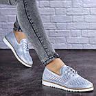 Женские кожаные туфли Fashion Niky 1726 36 размер 23,5 см Голубой, фото 6
