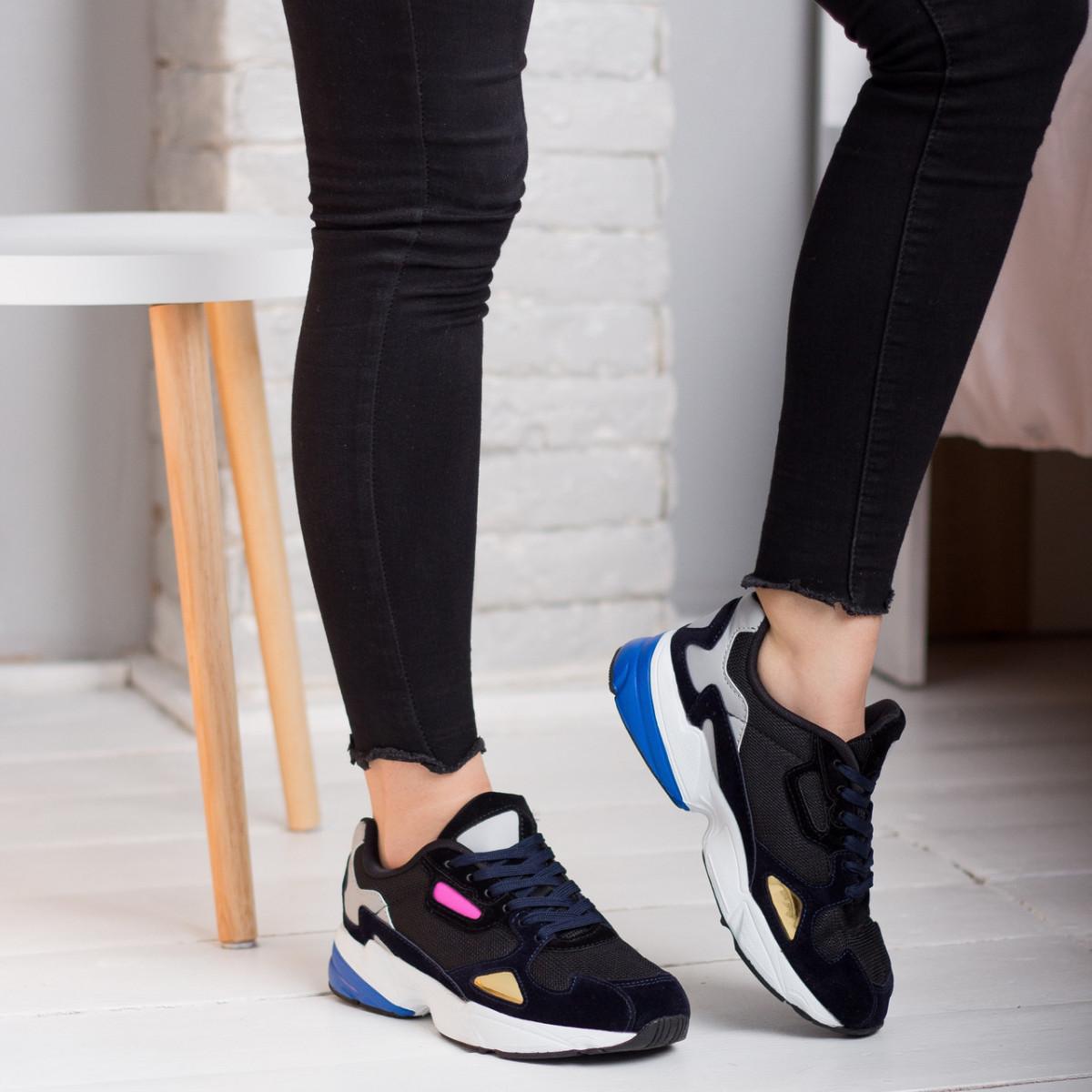Кроссовки женские Fashion Haile 2586 37 размер 24 см Черный