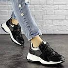 Жіночі кросівки Fashion Bruiser 1659 36 розмір 23 см Чорний, фото 7
