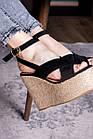 Жіночі босоніжки Fashion Abbykitty 2726 36 розмір, 23,5 см Чорний, фото 4