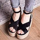 Жіночі босоніжки Fashion Abbykitty 2726 36 розмір, 23,5 см Чорний, фото 8