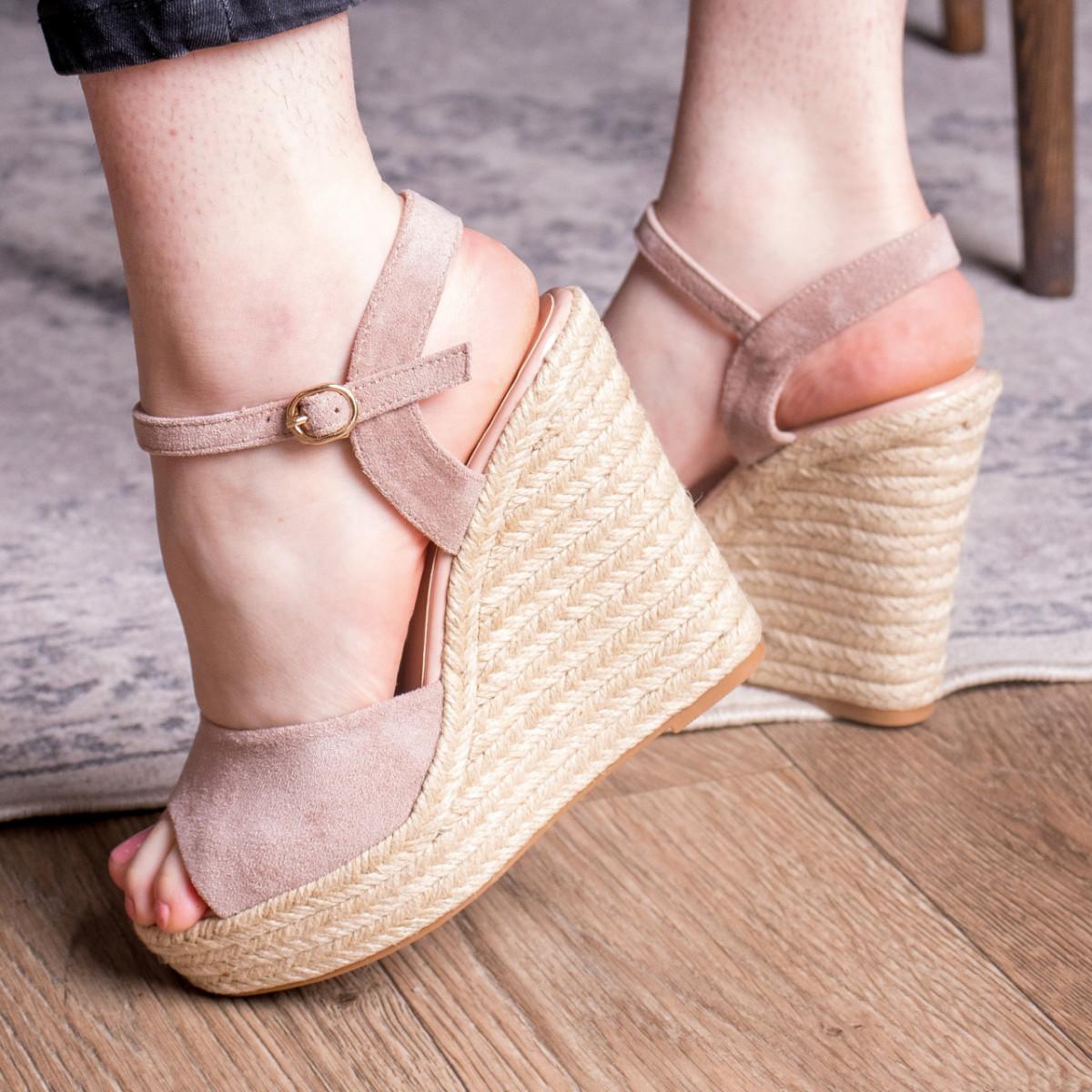 Жіночі босоніжки Fashion Abendigo 2829 37 розмір 24 см Бежевий