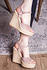 Жіночі босоніжки Fashion Abendigo 2829 37 розмір 24 см Бежевий, фото 4
