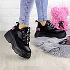 Жіночі кросівки Fashion Harper 1302 38 розмір 23,5 см Чорний, фото 2
