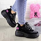 Жіночі кросівки Fashion Harper 1302 38 розмір 23,5 см Чорний, фото 3