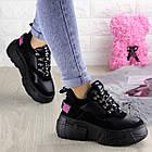 Жіночі кросівки Fashion Harper 1302 38 розмір 23,5 см Чорний, фото 5