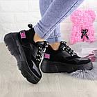 Жіночі кросівки Fashion Harper 1302 38 розмір 23,5 см Чорний, фото 6