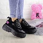 Жіночі кросівки Fashion Harper 1302 38 розмір 23,5 см Чорний, фото 8