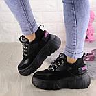 Жіночі кросівки Fashion Harper 1302 38 розмір 23,5 см Чорний, фото 9