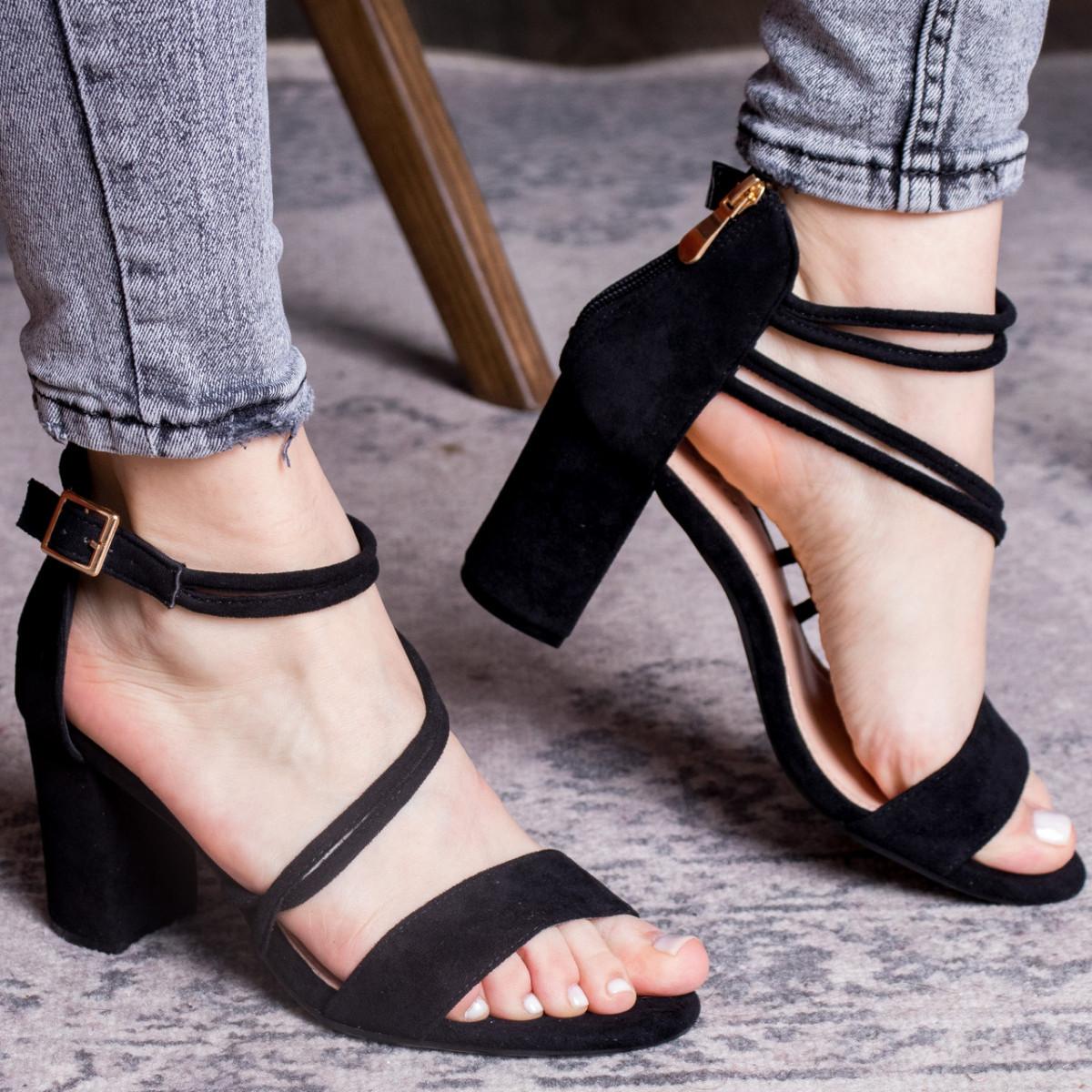 Женские босоножки Fashion Babers 2748 36 размер 23,5 см Черный