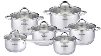 Набір посуду RINGEL Hagen Набір 12пр. 1.15 л ківш + 5 каструль (1.9 л - 6.1 л) (RG-6005)