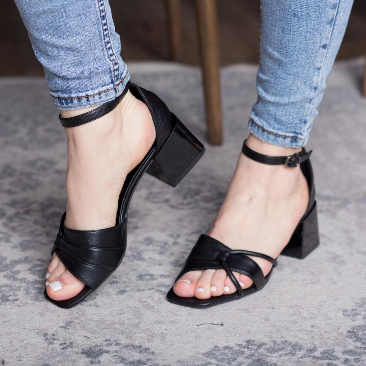 Женские босоножки Fashion Galaxy 2812 36 размер 23,5 см Черный