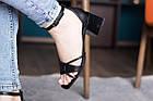 Женские босоножки Fashion Galaxy 2812 36 размер 23,5 см Черный, фото 3