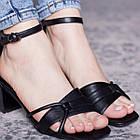 Женские босоножки Fashion Galaxy 2812 36 размер 23,5 см Черный, фото 4