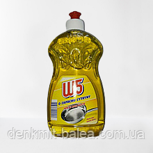 Гель для мытья посуды с ароматом лимона  W5 Citrus Plyn do mycia naczyn 500 мл