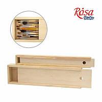 Пенал для пензлів деревяний 350х49х30мм ПК2