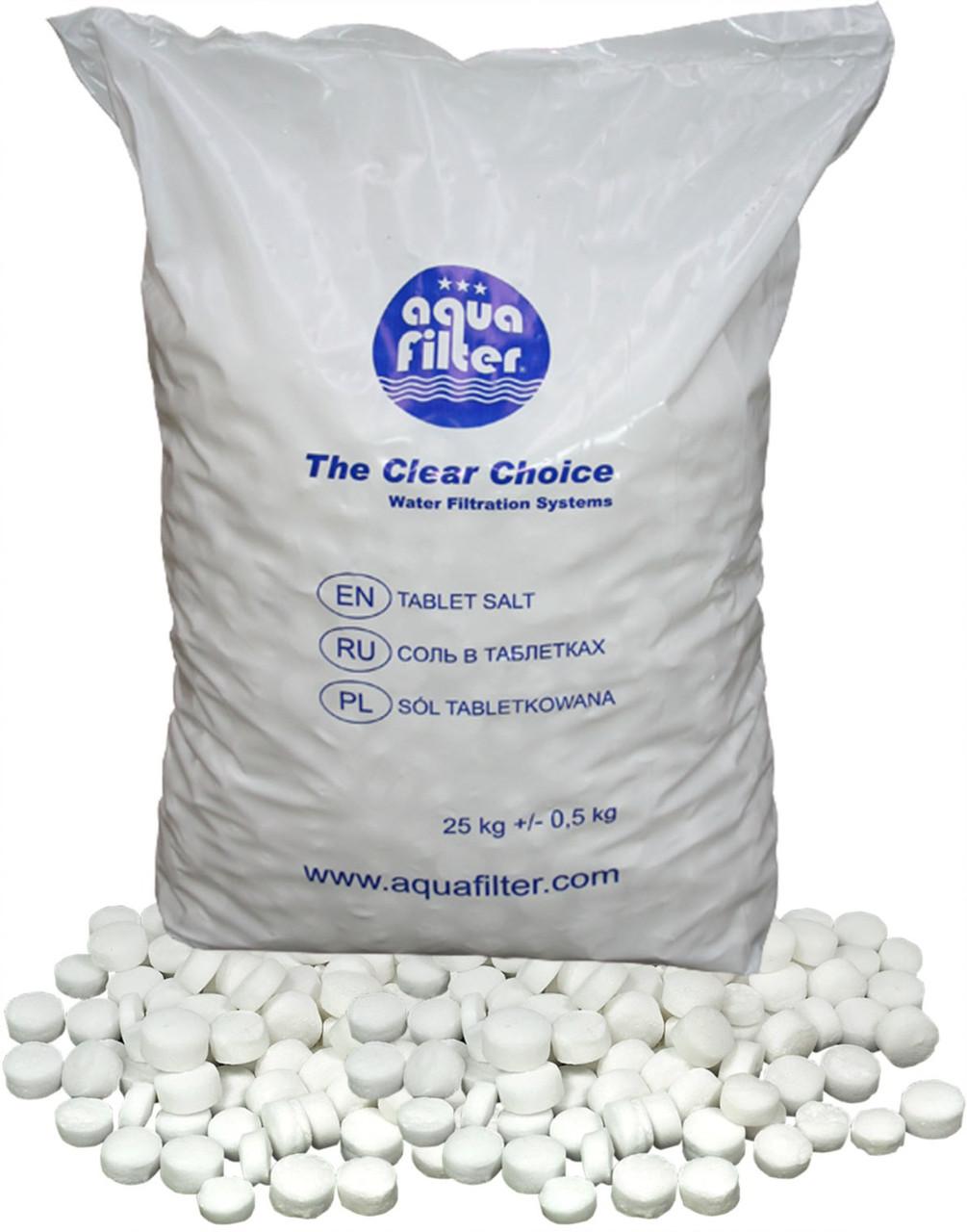 Соль в таблетках Aquafilter (25 кг)