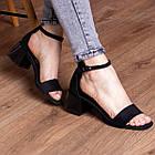 Жіночі босоніжки Fashion Halwa 2833 36 розмір, 23,5 см Чорний, фото 4