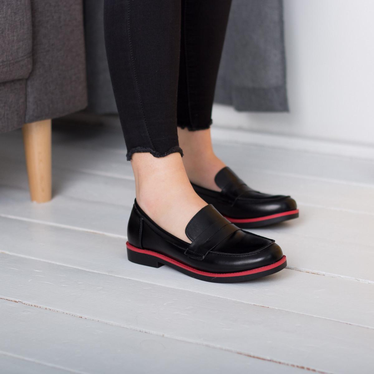Лоферы женские Fashion Cassy 2644 36 размер 23,5 см Черный