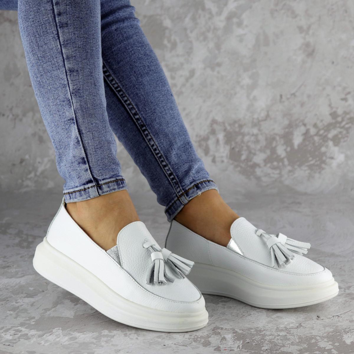 Мокасини жіночі Fashion Pansy 2147 36 розмір, 23,5 см Білий 40