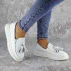 Мокасини жіночі Fashion Pansy 2147 36 розмір, 23,5 см Білий 40, фото 6