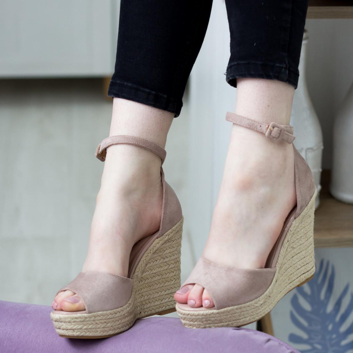 Жіночі босоніжки Fashion Labelle 2811 36 розмір 23 см Бежевий 38